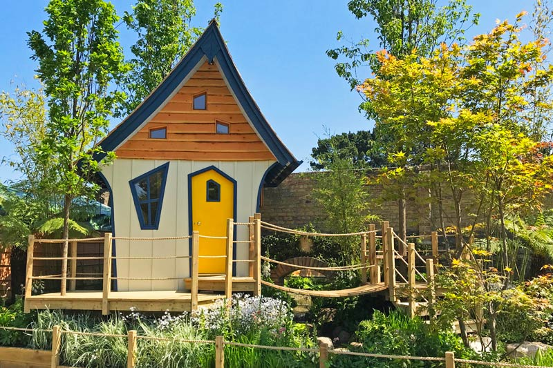 Bespoke luxury treehouse for Bloom show Garden