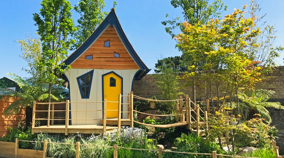 Treehouse design takes centre stage in award winning show garden