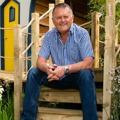 Peter O'Brien principal designer, Forest Wild Treehouses. Treehouses, play towers, play gardens